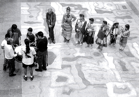 George Morrison's Tableau, A Native American Mosaic dedication 1992